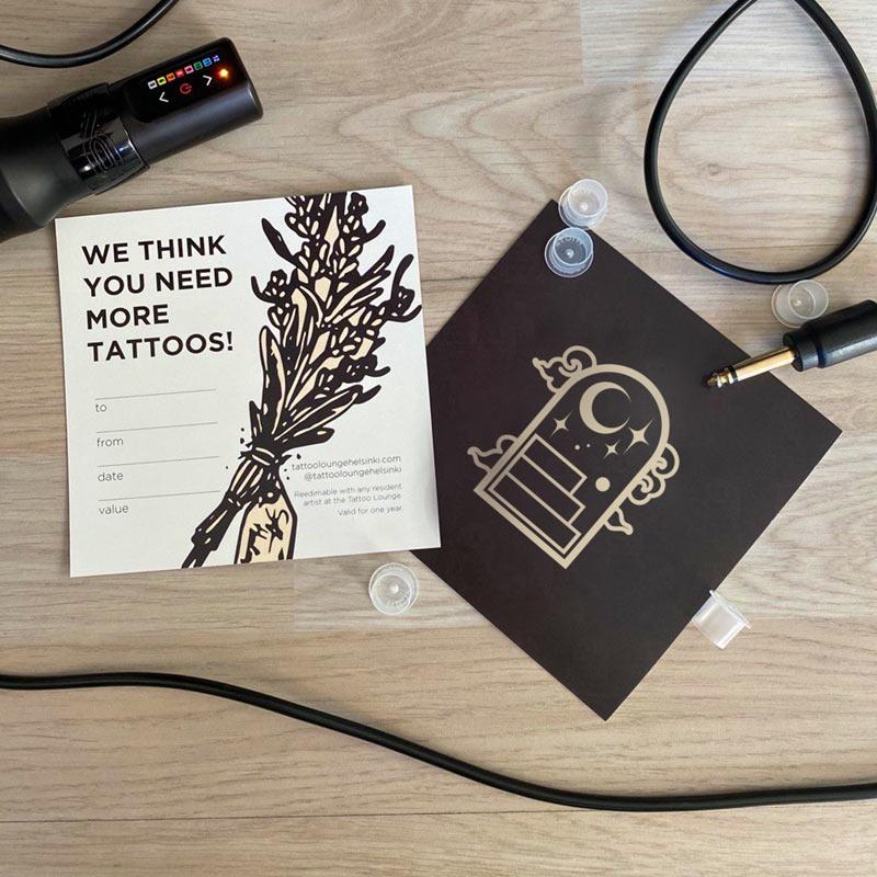 Tattoo Lounge Helsinki Gift Card Lahjakortti 2021